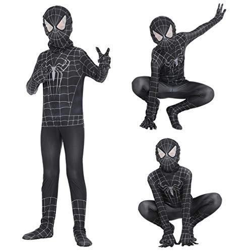 VARY Disfraz de superhroe de Marvel Unisex para Adultos y nios, Zentai 3D Impreso Super Heroes Disfraces de Halloween, Altura Adecuada 90cm-180cm,XXL/140~150