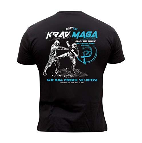 Dirty Ray Kampfsport Krav Maga Herren Kurzarm T-Shirt DT24 (XXL)