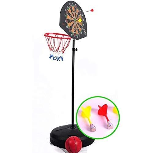XIUYU Haushaltsstand Junge Schießen Rack, verstellbare Hebe mobilen Multifunktions-Basketball-Rack, Frontplatz, Dart Wurf auf der Rückseite