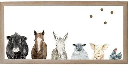 Petal Lane Framed Canvas Wall Art - Farm House Farm Animals Home Decor, (12