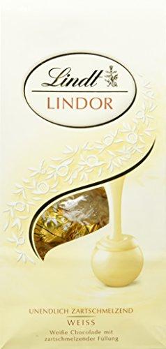 Lindt Lindor Weiße Schokoladenkugeln (ca. 10 Kugeln), 136g
