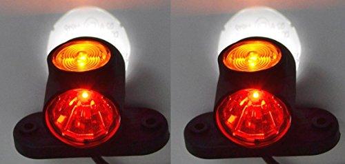pequeño y compacto 2x Luz de posición delantera E9 Luz de posición 12V 24V Chasis de remolque de camión …
