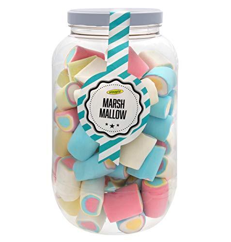 Nubes de Colores Marshmallows Bully Eye Tarro gigante PVC 570 gramos