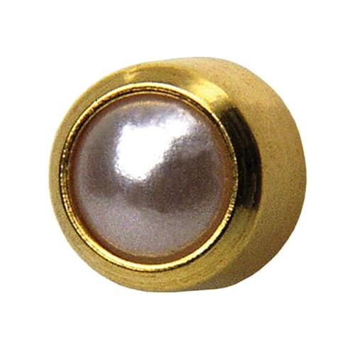 1 Paar Erstohrstecker 3mm vergoldet Sterile Ohrringe Ohrstecker Zarge mit Perle