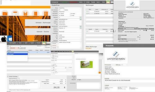 Rechnungsprogramm Kunden Verwaltung Rechnung Software Produkte Lagerverwaltung Dienstleistung Warenwirtschaft Faktura Unternehmen Firmen Rechnungssoftware Programm Windows Apple Mac