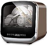 Encimera compacta para lavavajillas con depósito de agua desmontable con interior de acero inoxidable y 6 ajustes de lugares, para apartamento, oficina, hogar, cocina, color blanco, 220 V