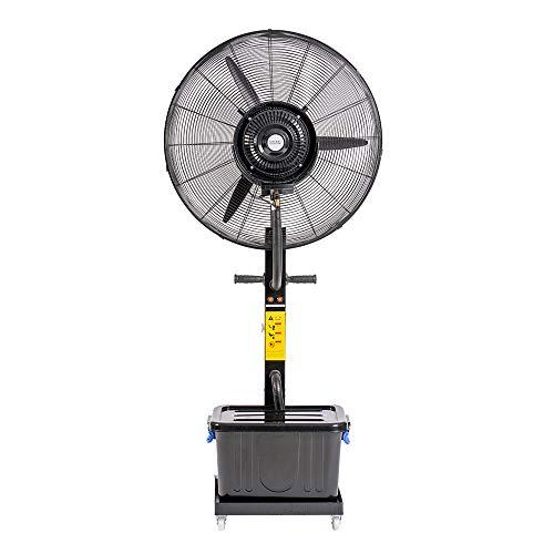 Enrico Coveri Ventilatore Nebulizzatore Ad Acqua, Con Altezza 185 Cm e Serbatoio 40 Litri, 230 Watt Di Potenza Perfetto per Casa, Negozio, Ufficio e Attività Commerciali (Nero)