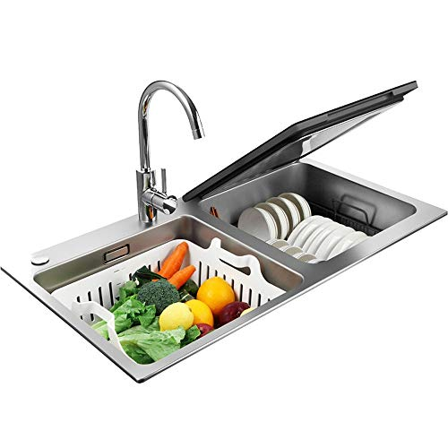 Guodasitansen Lavavajillas lavavajillas portátil lavavajillas Integrado lavavajillas Fregadero 1850W Secado desinfección Completamente automático de Gran Capacidad
