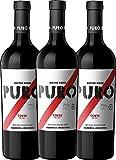 3er Paket - Puro Corte 2018 - Dieter Meier mit VINELLO.weinausgießer | trockener Rotwein mit VINELLO.weinausgießer | argentinischer Biowein aus Mendoza | 3 x 0,75 Liter