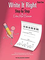 Write It Right - Book One: Theory Exercises Designed to Correlate With Edna Mae Burnam's Step by Step Piano Course, Book One