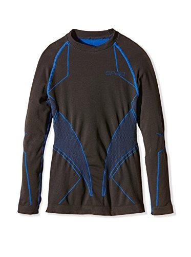 SPAIO Intense T-Shirt à Manches Longues Enfants, Gris/Bleu, 140-146