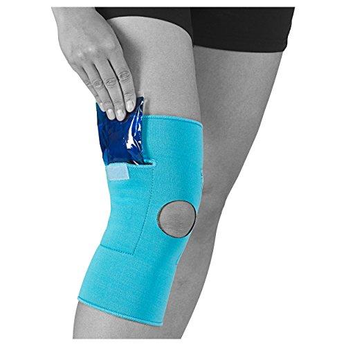 cool&move Knie Bandage L, inkl. Kalt- / Warm-Kompressen, bei Sportverletzung und Gelenkschmerz