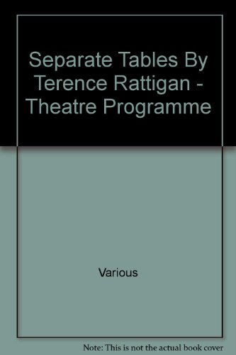 Separate Tables By Terence Rattigan - Theatre Programme