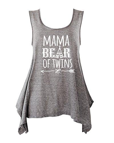 TeeMixed Women Plus Size Flowy Flare Tank Tops Mama Bear of...