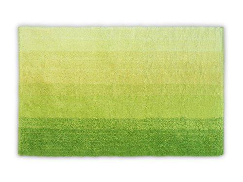 """Dyckhoff Badteppich """"Colori erhältlich in 6 trendigen Farbkombinationen und 3 verschiedenen Größen - ultraweich und angenehm an den Füßen, 70 x 120 cm, grün"""