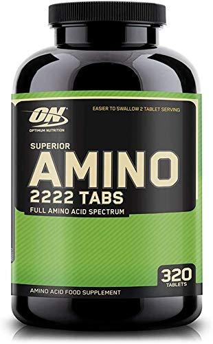 Optimum Nutrition ON Superior Amino 2222, BCAA, EAA Aminoacidi Essenziali e Ramificati, Non Aromatizzato, 160 Porzioni, 320 Capsule