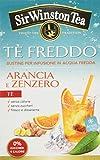 Sir Winston Tea Tè Freddo Arancia e Zenzero - Confezione da 3 x 18 bustine...