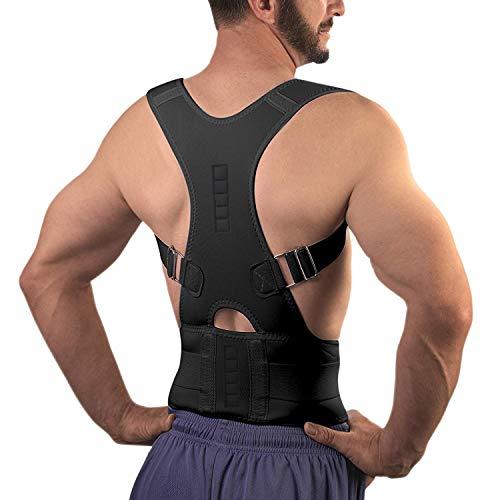 10 Magnets Back Braces for Back Pain - Best Fully Adjustable Posture Corrector for Men & Women - Improves Posture and 2 Steel Bone Provides Lumbar Support