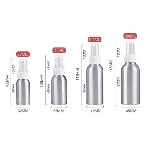 30ml/50ml/100ml/120ml/150ml Portable Aluminum Spray Bottle Mini Empty Perfume Bottles Spray Rechargeable Cosmetic Spray 120ml