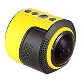 RJJG Cámara panorámica de 360 Grados WiFi 1080P 30FPS 8MP Cámara para Gafas virtuales Deportes Deportivas Actividades al Aire Libre l11.17A (Bundle : Camera Only)