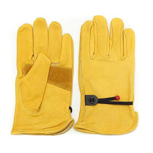 Alamor Vintage cuir jaune motocyclette moto sport Racing gants S M L XL - S