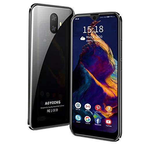 Smartphone ohne Vertrag Android 9.0 Handy, 5,5 Zoll HD Display, 3 GB RAM + 32 GB ROM / 128 GB Erweiterbar, Quad Core, 8MP+5MP Dual Kamera, 3400 mAh Akku, Face ID, Dual-SIM Smartphones Bundle