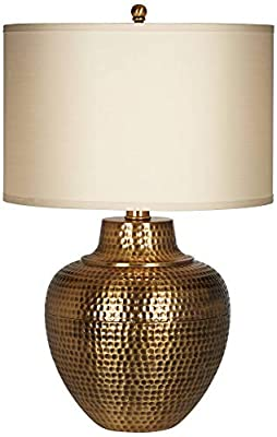 Hammered Antique Brass Table Lamp