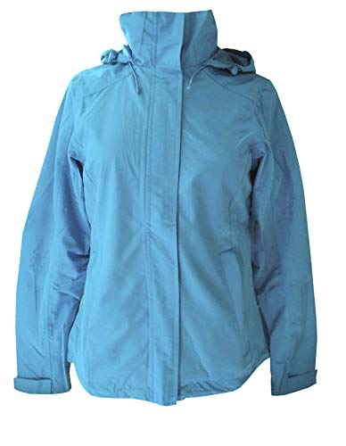 Tchibo TCM Damen Allwetterjacke Jacke Wind-/Wasserdicht Blau (32/34 XS)