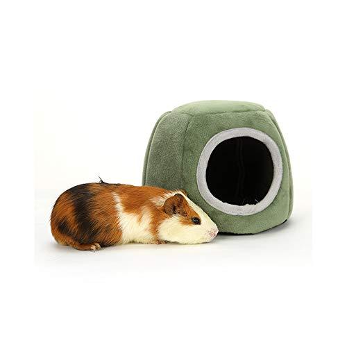 JunFeng Cama Felpa Hamster,Cobayas Casas Suave,Escondite Cálido para Animales Pequeños como Conejillos de Indias/Hámsters/Erizos/Hurón(21×17 cm,Tamaño de Entrada: 9 cm)