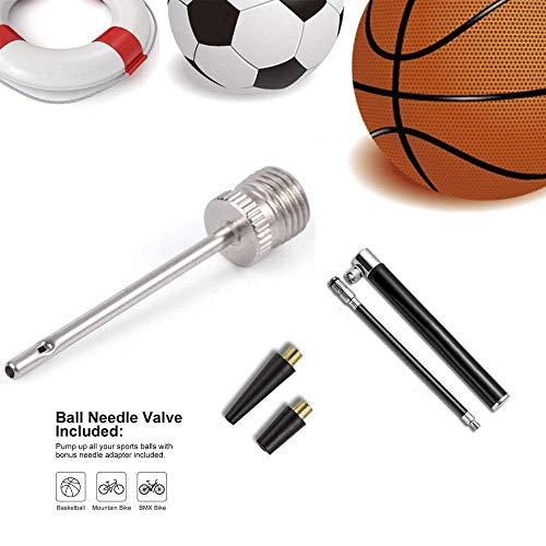 Mini Fahrradpumpe, 120 PSI Tragbare Luftpumpe Fahrrad Standpumpe Mini, Hoher Druck Handpumpe für Presta und Schrader und Dunlop Ventil, für Mountainbikes, Rennrad, BMX