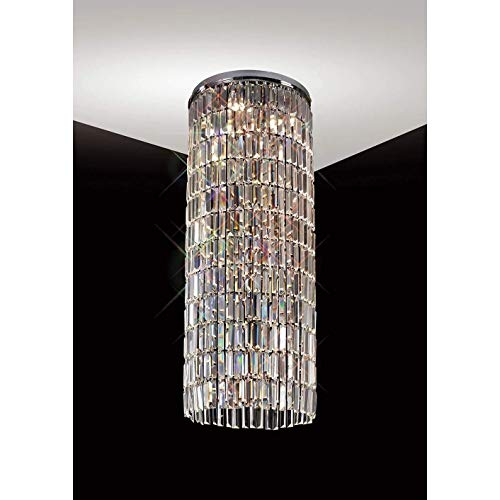 Diyas IL30075 Torre Pendant *** Plate Only *** 5 Light Polished Chrome/Crystal To Order