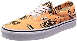 Vans Unisex Era 59 Logo Mix Skate Shoes (7 M US Women / 5.5 M US Men, Tangerine/Black)