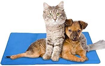 Tapis/matelas Mega_Jumble avec gel auto-refroidissant pour rafraîchir votre animal de compagnie (chien/chat) -  Non toxique - 60 x 44cm - Bleu
