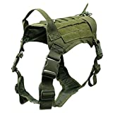 JVSISM Harness with Detachable Molle Pouches Outdoor Training Handle Service Dog Vest