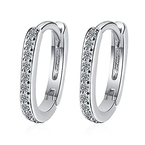 Pendiente de plata 925 Pendiente de oro de cristal para mujer Joyería de oreja coreana de moda femenina