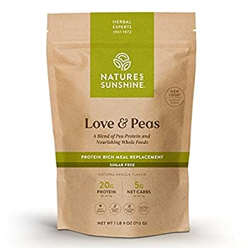 natures sunshine love and peas protein powder
