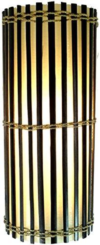 Guru-Shop Muurlamp/Muurlamp, Bamboe Design Lamp, Handgemaakt in Bali van Natuurlijk Materiaal, Bamboe - Model Mirabilis, Glasvezel, 30x15x15 cm, Wandlampen