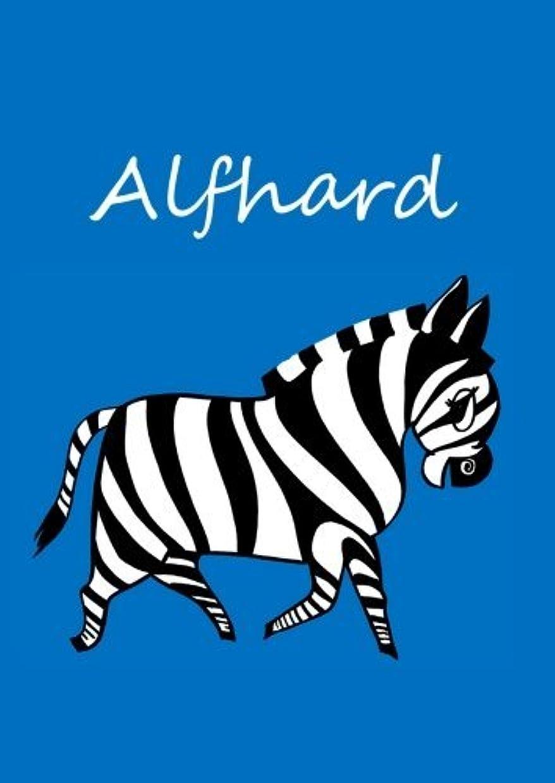 最大のうつコストAlfhard: individualisiertes Malbuch / Notizbuch / Tagebuch - Zebra - A4 - blanko