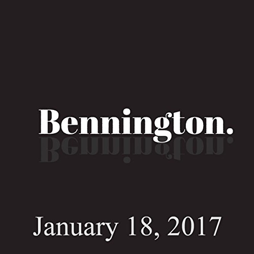 Bennington, January 18, 2017 audiobook cover art