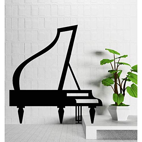 Muurstickers Vinyl Decal Piano Concert Piano Music Room Art Decor 57X61Cm