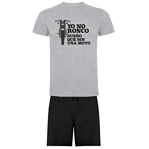 Pijama Ronco Moto de Camiseta y Pantalon Corto (M