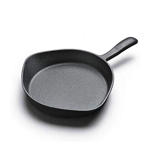 Ghisa Pan - Nero Mini frittata non rivestito Cooker universale Stoviglie JIAMING