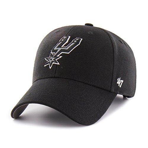 '47 San Antonio Spurs NBA Brand Hat Cap Basic Black MVP Adult Men's Adjustable