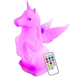 HYODREAM Unicorns Gifts for Girls,Nursery Unicorn Night Light with Pat Sensor and Remote(Timer),Rechargeable 9 Colors Changing Unicorn Toys for 2 3 4 5 6 7 8 9 Year Old Girls Gifts for Birthday