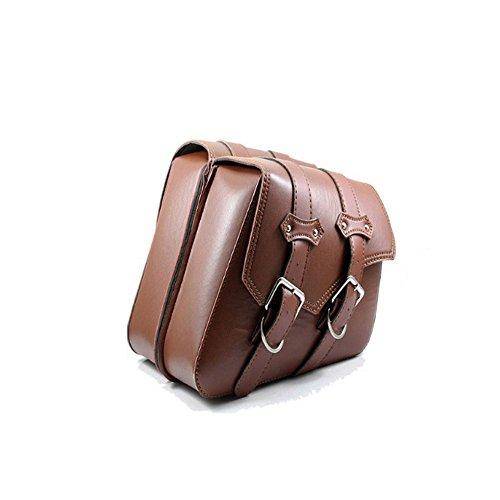 KKmoon Motorrad-Taschen, 2 Stück Satteltaschen und Ledertaschen, Seitentaschen für Motorräder, Toolkit an der Seite des Motorradtanks. Braun