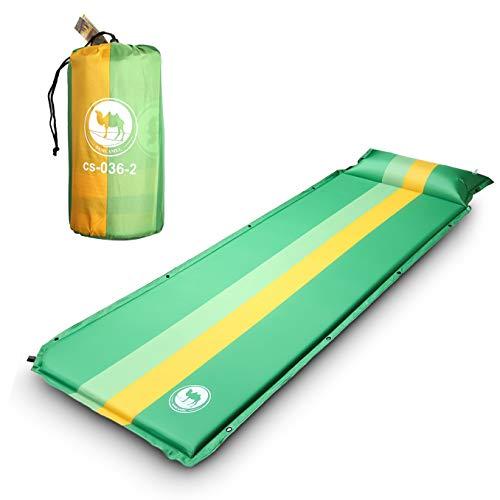 EKKONG Selbstaufblasende Luftmatratze Isomatte 190x68 cm mit 3, 5 cm Dicke, für Camping, Outdoor, Reise, Wandern, Strand (Grün)