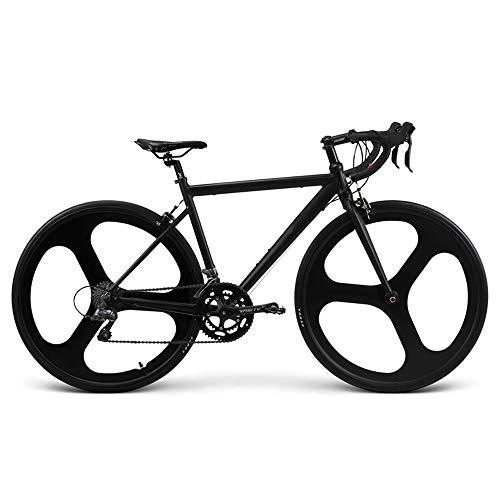 CuiCui Rennrad Aus Aluminiumlegierung Mit Variabler Geschwindigkeit 18-Gang Kühles Schwarzes Stadtauto Windbrechendes Integriertes Rad