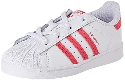 adidas Superstar El I, Scarpe da Ginnastica, Ftwr White/Super Pink/Core Black, 25 EU