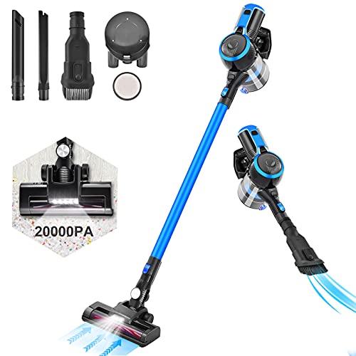 Aspiradora sin Cable, LTPAG 20Kpa 250W Aspiradora Escoba sin Cable 2 en...