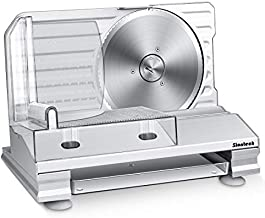 Meat Slicer,Siontech Electric Deli Food Slicer with Removable 9'' Stainless Steel Blade,Adjustable Thickness,Non-Slip Feet,Deli Slicer for Meat, Cheese, Bread